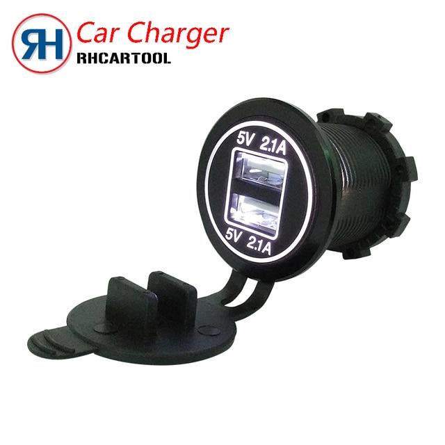 2018 Best Quality Car Moto Charger USB 12/24V Black Waterproof Auto Car Cigarette Lighter Socket For Mobile Motorcycle