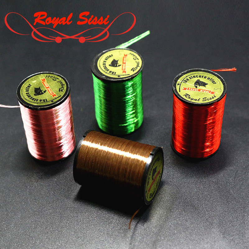 Royal Sissi 10optional Colors Neon fly tying Floss Yarn 300D highlighted fly tying thread Salmon bass fly pattern tying material geometric pattern irregular front fly cardigan
