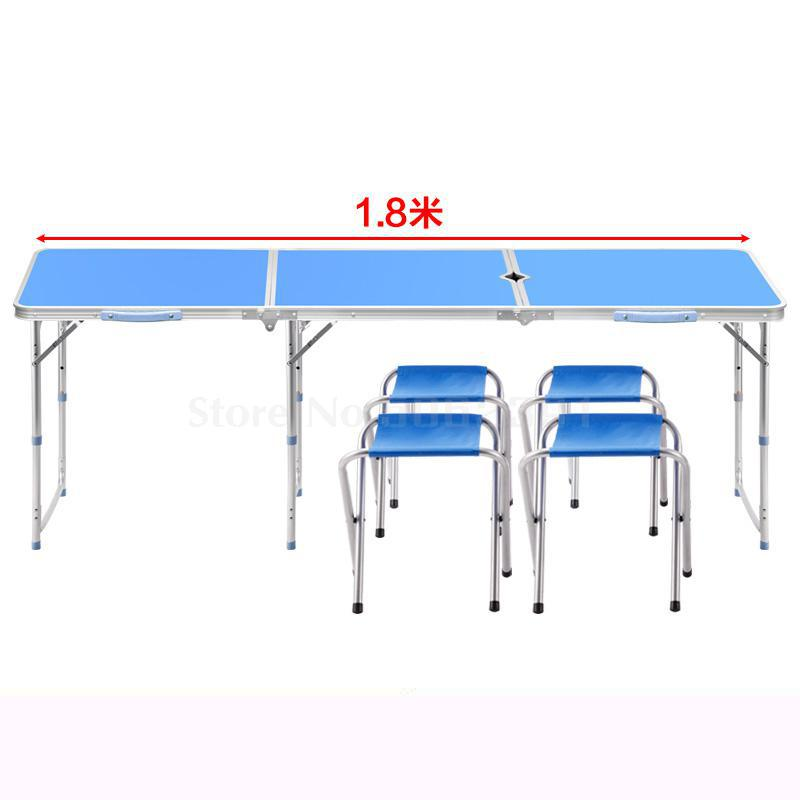 1.8 meters outdoor folding table aluminum alloy stalls folding table simple table folding portable multifunction(China)
