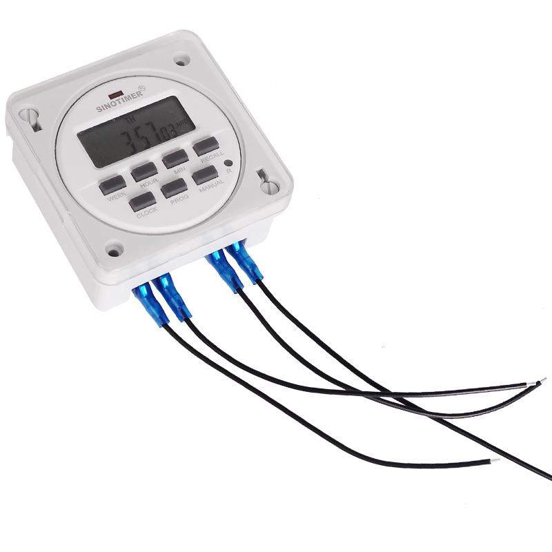 12/24 Formato 12 V DC Timer Switch 7 giorni 24 ore programmabile - Strumenti di misura - Fotografia 5