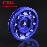 Aluminum Crank Pulley Light Weight Fits for EK9 Integra DC2 Type R CTR Black / Blue