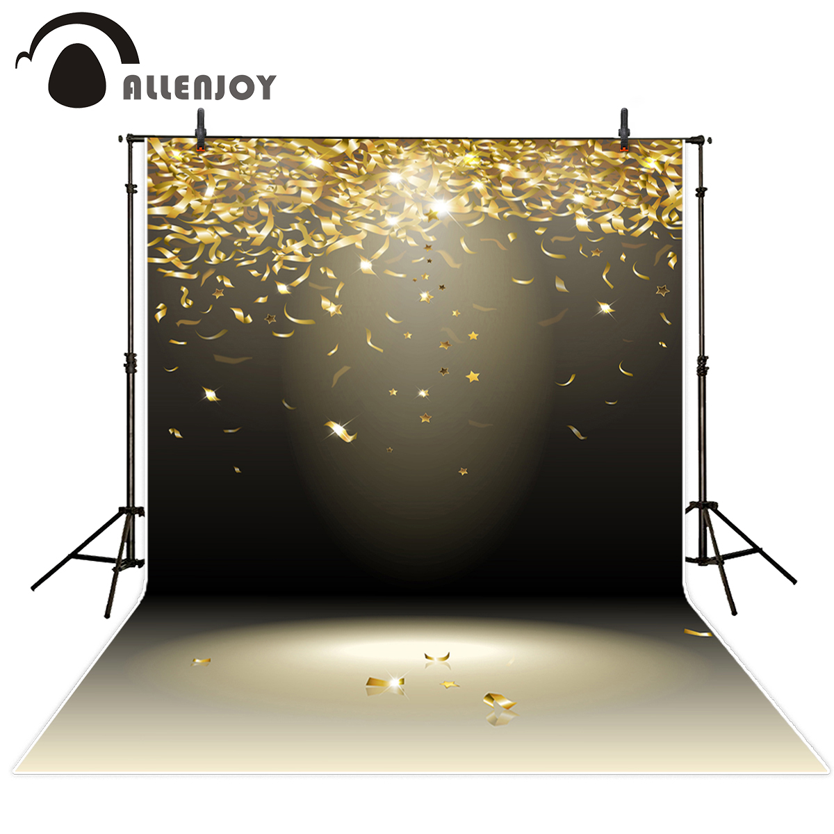 Allenjoy photography backdrops golden silk ribbon party celebrate Funds for newborn photography studio photo background vinyl