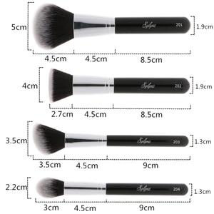 Image 4 - Sylyne Bộ cọ trang điểm 10 chiếc chuyên nghiệp chất lượng cao trang điểm màu đen cổ điển nền cọ trang điểm Bộ dụng cụ.