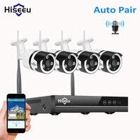 Hiseeu 4CH 960 P беспроводного видеонаблюдения Системы комплект Wi Fi аудио IP Камера Открытый домашней безопасности CCTV Камера Системы 1.3MP HDD