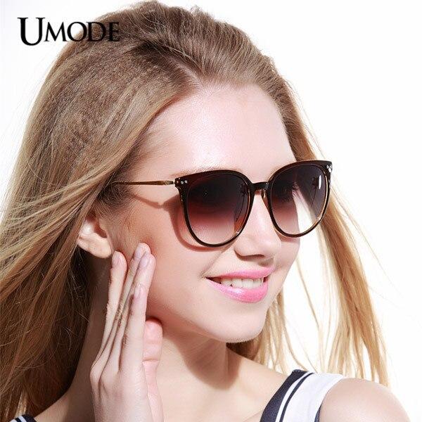 72412108b2263 Umode UV400 Protect Erika Cat Eye Women Blue Sunglasses Mirror Sunglasses  Female Gafas Masculino Aviador Oculos De Sol SW0119