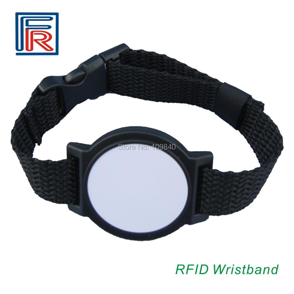100pcs/lot 13.56MHz iso14443a rewritable Nylon Material Adjustable Watch Ring RFID Nylon Wristband Bracelet andralyn 100pcs nylon clevis 1 2xl21mm