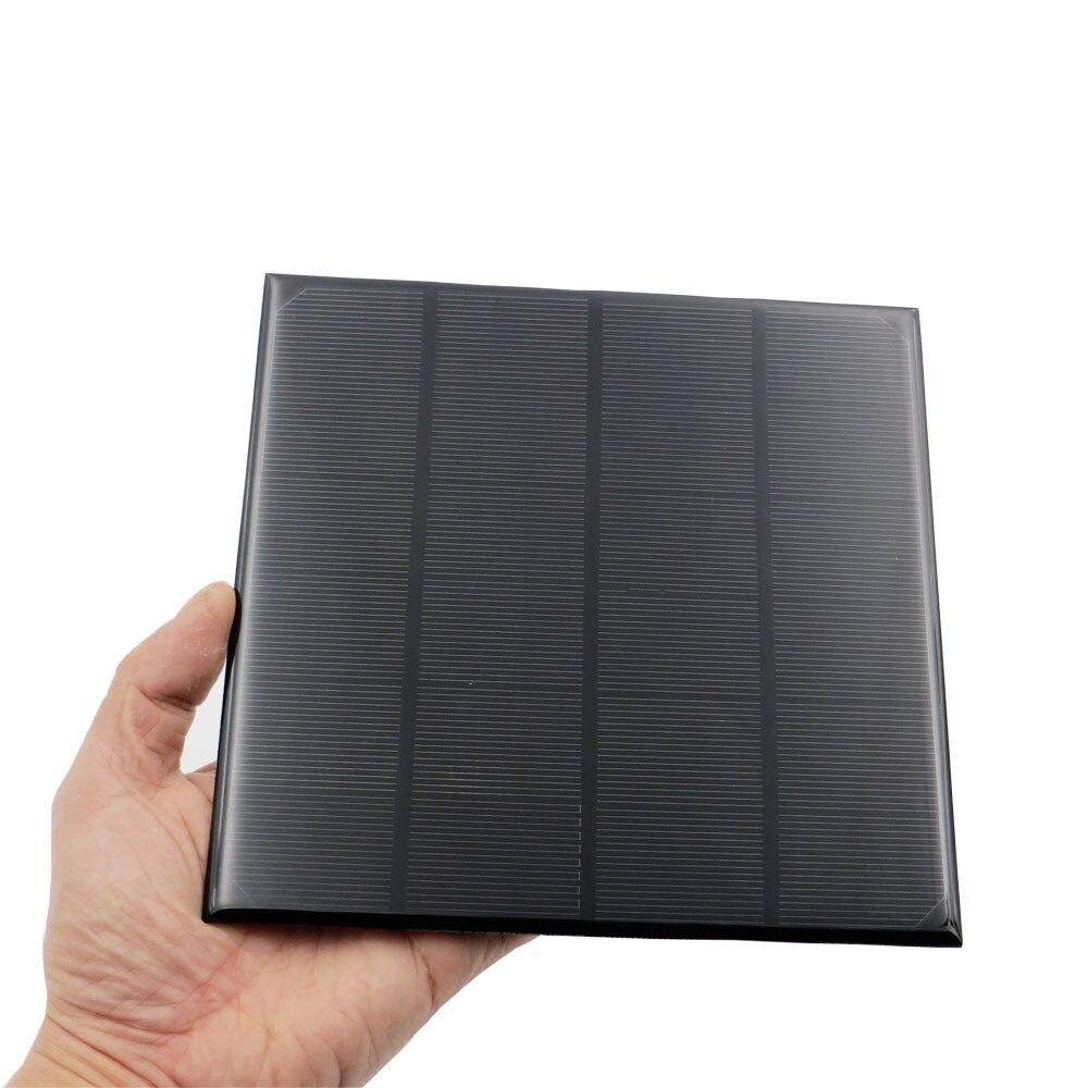 6V 750mA 4.5Watt 4.5W Solar Panel Standard Epoxy Monocrystalline Silicon DIY Battery Power Charge Module Mini Solar Cell Toy