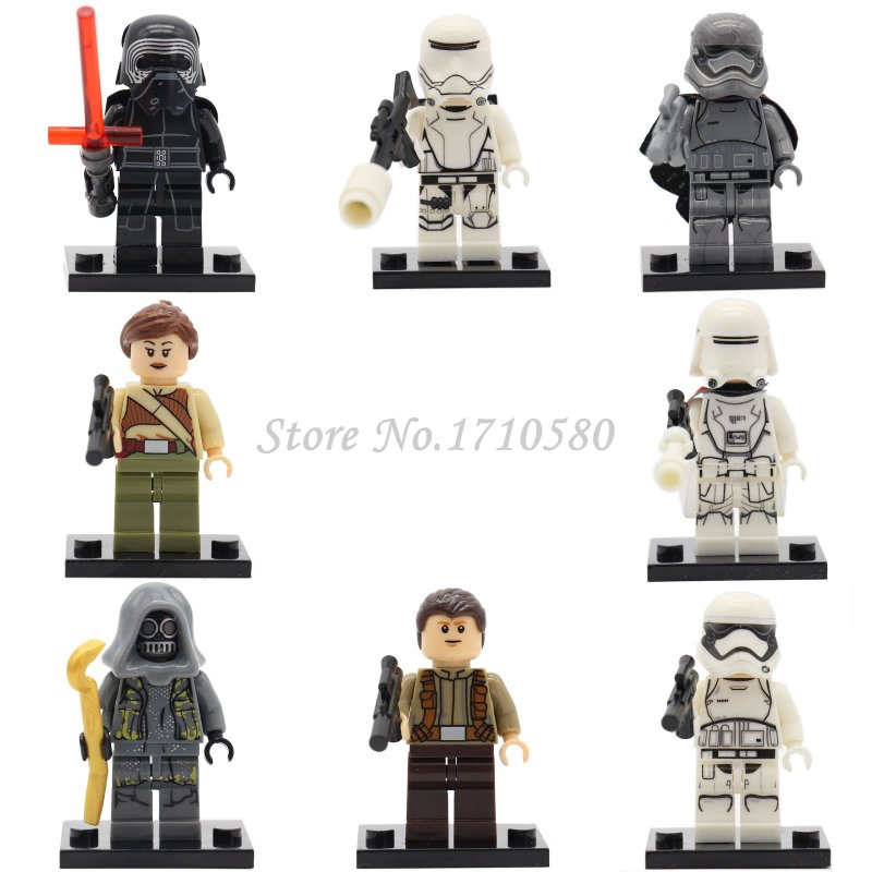 Wholesale Star Wars 7 Minifigures XINH 144-151 Kylo Ren Stormtrooper Captain Phasma The Power Awakens Constructing Blocks Set Toys