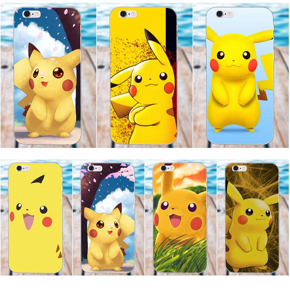 TPU Telefon Coque Pokemons Pikachus Raiden Für Apple iPhone 4 4 S 5 5C SE 6 6 S 7 8 Plus X Galaxy Grand Core II Prime Alpha image
