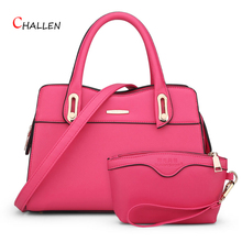 Fashion Design Composite Bag Women Evening Bags High Quality Pu Leather Messenger Shoulder Bag Solid Red White Handbags Sac m714