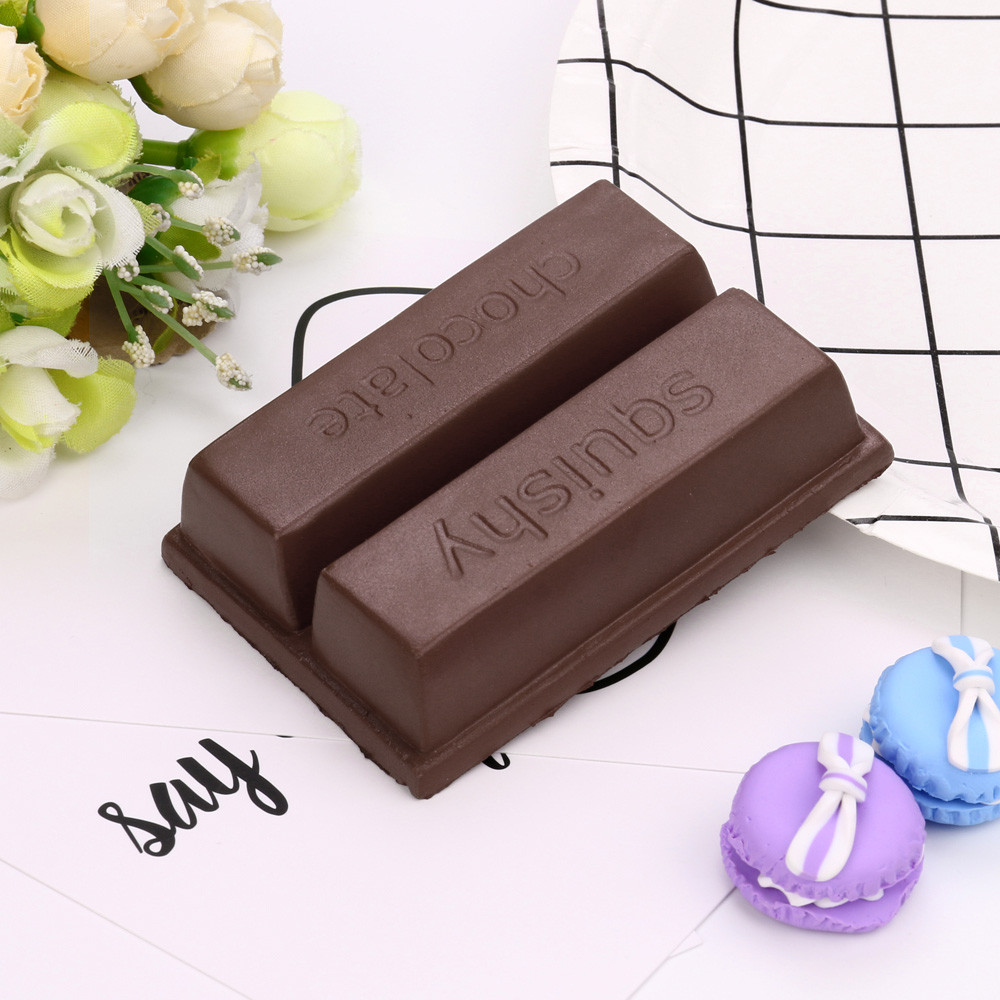 Anti-stress Fun toys for adults children Squishy Squeeze Stress Reliever 8cm Simulation Chocolate Scented Slow Rising Toy