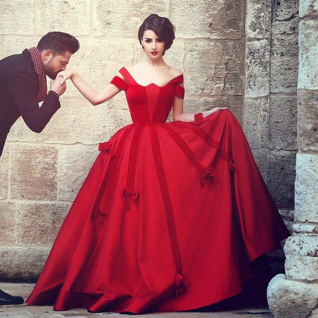 Rode Party Jurk.Prinses Rode Avond Prom Jurk 2018 Baljurk Satijn Cap Mouw Vestido De