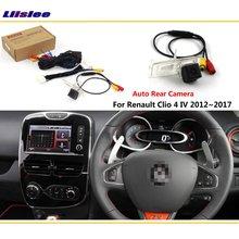 Камера заднего вида для Renault Clio 4 IV 2012~, подключается к оригинальному заводскому экрану, монитор, светильник номерного знака, камера