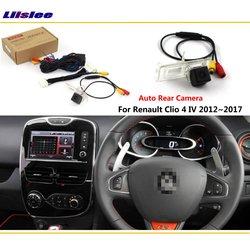 Камера заднего вида для Renault Clio 4 IV 2012 ~ 2018, подключается к оригинальному заводскому экрану, монитор, светильник номерного знака, камера