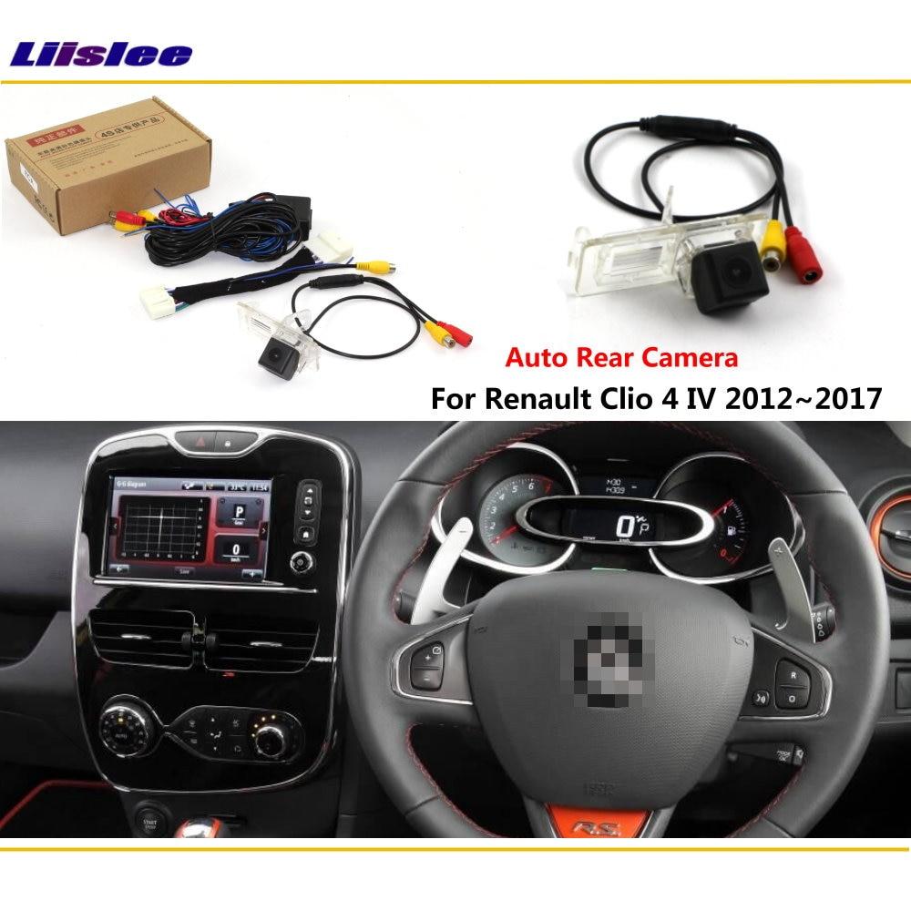 Renault Clio 4 IV 용 후방 카메라 2012 ~ 2018 연결 원래 공장 화면 모니터 번호판 라이트 카메라