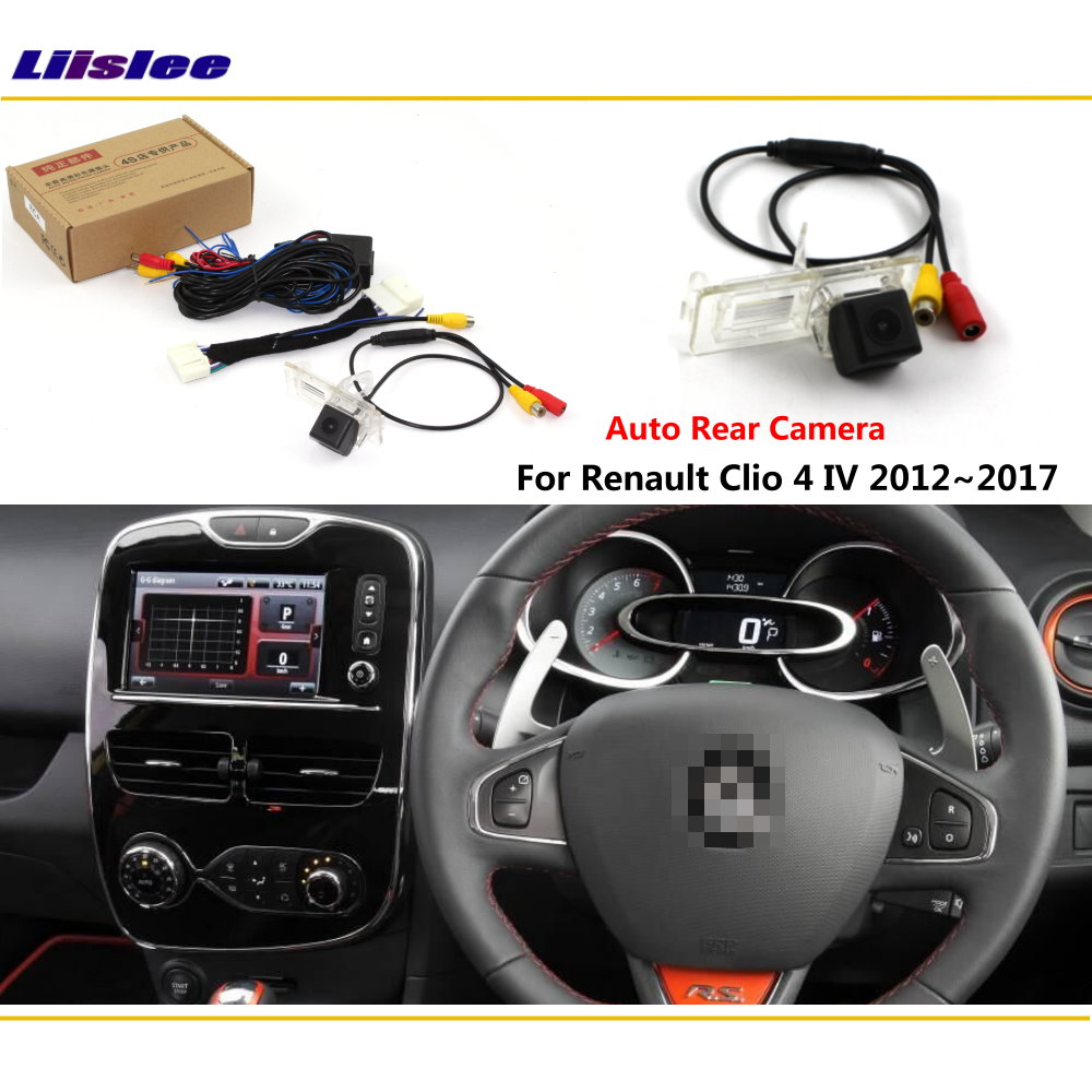 Reverse Rear Camera For Renault Clio 4 IV 2012~2018 Connect Original Factory Screen Monitor License Plate Light Camera