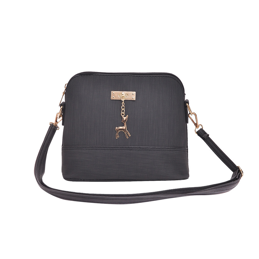 2019 Frauen Messenger Taschen Hirsch Spielzeug Shell Form Tasche Mode Damen Leder Mini Handtasche Schulter Tasche Casual Tote Vintage Klappe