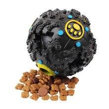купить Dog Pet Play Squeaky Chew Ball Squeaker Quack Sound Chew Treat Holder Funny Food Dispenser Ball Toy Quack Sound Training Toy дешево