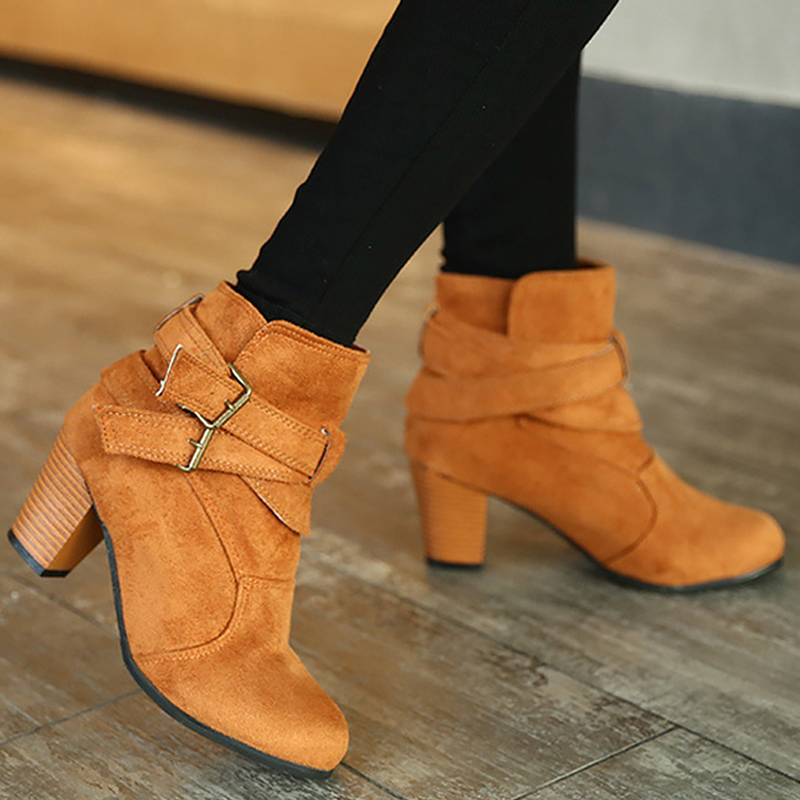Graffiti colors buckle ankle women boots luxury spike heels basic female boots black shoes big size 35-42 shoes women brand new hot sales women nude ankle boots red black buckle ladies riding spike shoes high heels emb08 plus big size 32 45 11