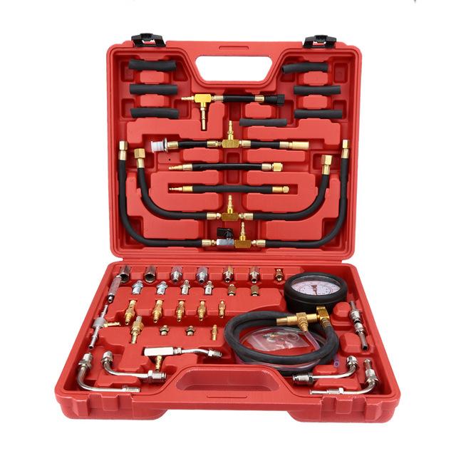 Estilo quente da venda Do Carro TU-443 Testador Pressão de Injeção de Combustível Injector Teste de Medidor de Pressão Da Bomba de Gasolina Conjunto 0-140psi para Carros