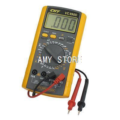 200mV-700V AC Voltage Resistance Meter Digital Multimeter w 2 Test Lead VC890D  цены