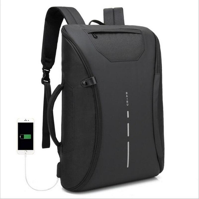 de065086bfbc USB töltő hátizsák férfi laptop hátizsákok táska multifunkciós Nylon ...