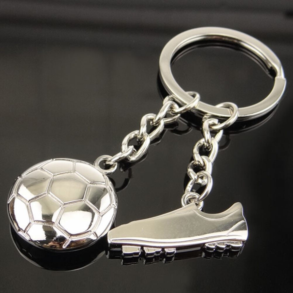 Fashion Football Metal Keychain Men Gift Key Chain Soccer Shoes And Football Car Key Ring Gift Party Keychains Jewelry image