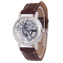 Новый стиль кварцевые часы Мужчины уникальный Механический Редуктор полый наручные часы часы мужчины женщины одеваются relógio masculino горячая продажа подарок # A8