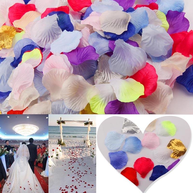 500Pcs Lots Artificial Silk Rose Petals de Marriage Fake Flower Petals Accessories for Valentine Party Wedding