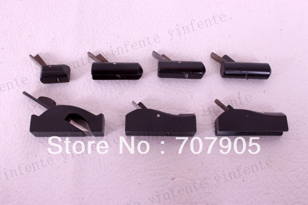 7pcs Planes Woodworking Tools luthier Violin maker tools ebony #p20-26 easy remove planes