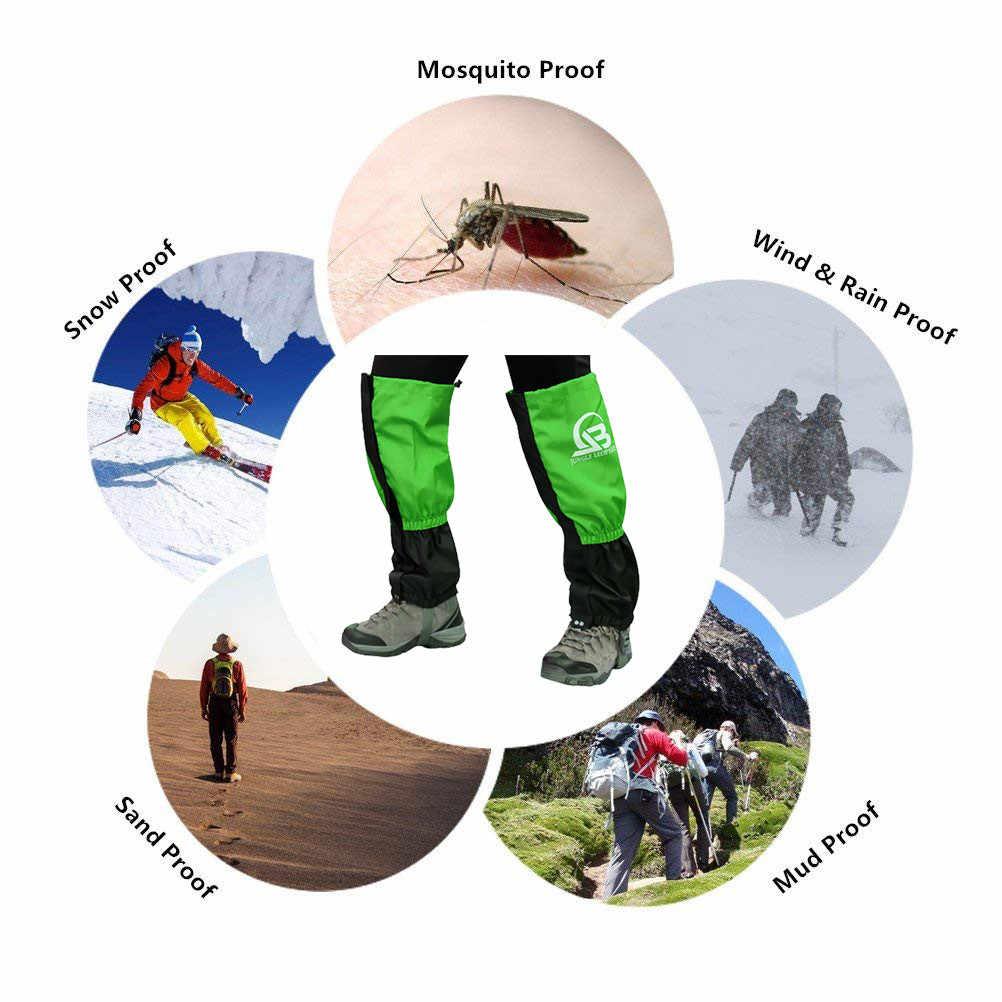 2019 新ジャングルヒョウブルーハイキングキャンプ登山ゲートル防水 DustproofSports 保護防護服