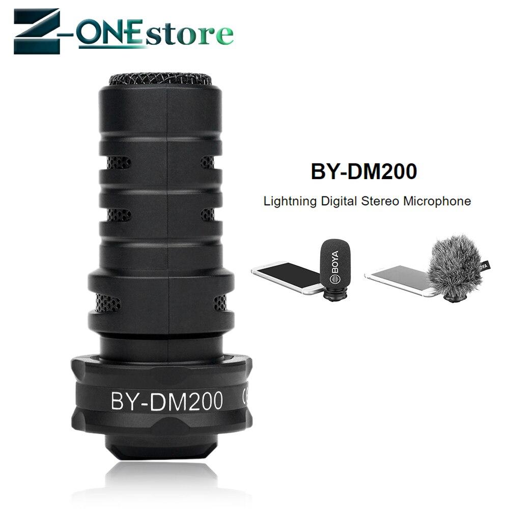 BOYA BY-DM200 Microphone pour iphone numérique stéréo Microphone superbe son pour IOS enregistrement pour iphone 7 8 x plus IPAD