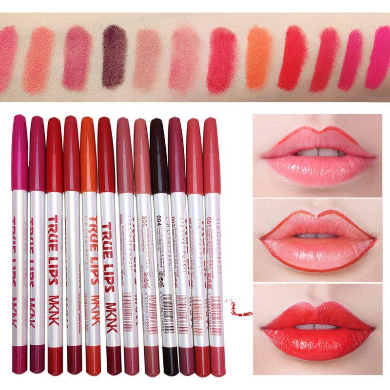<font><b>Lips</b></font> <font><b>Makeup</b></font> <font><b>Set</b></font> <font><b>Makeup</b></font> <font><b>Lip</b></font> Pen Liner 12 Colors <font><b>Lipstick</b></font> Cosmetic Waterproof Pencil <font><b>Set</b></font> image