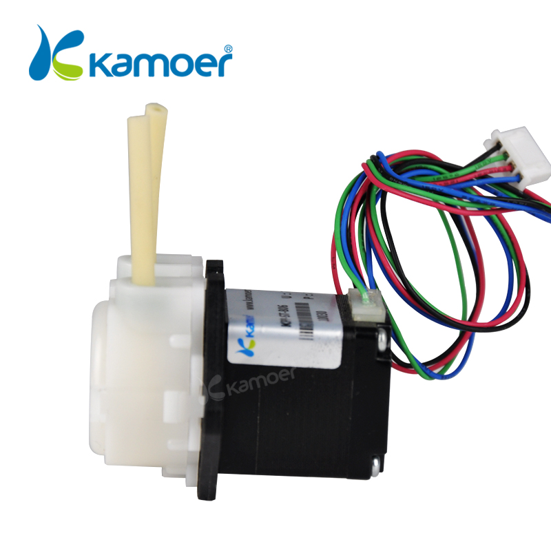 Kamoer KPP-ST peristaltic pump stepper motor DC motor12V/24V mini water pump with BPT tubing kamoer kpp st peristaltic pump 12v 24v stepper motor pump pharmed bpt tubing water pump arduino control low flow rate