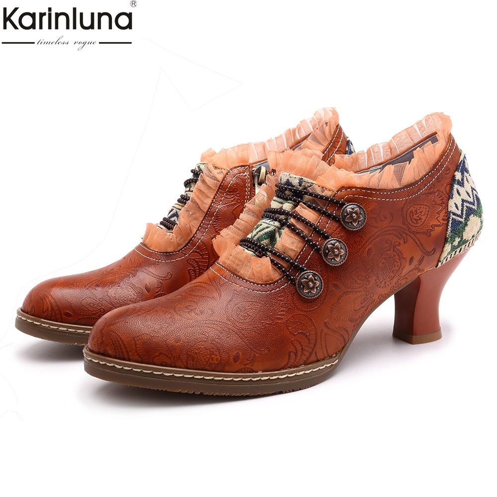 Fashion Brand Big Size 36-42 Luxury Genuine Leather Ethnic Style Zip Shoes Woman Casual Party Ol Spring Autumn PumpsFashion Brand Big Size 36-42 Luxury Genuine Leather Ethnic Style Zip Shoes Woman Casual Party Ol Spring Autumn Pumps