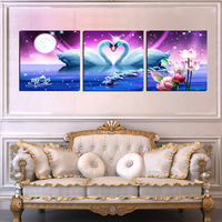 No Frames Picture 3 Piece Modern Cheap Home Decor Wall Pictures Oil Paintings Art On Flower