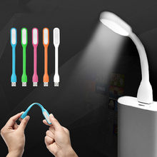 New Original USB Led Book Lamp For Reading Lights Mini Chip Adjustable Lighting In White/Blue/Green/Pink/Orange(China)