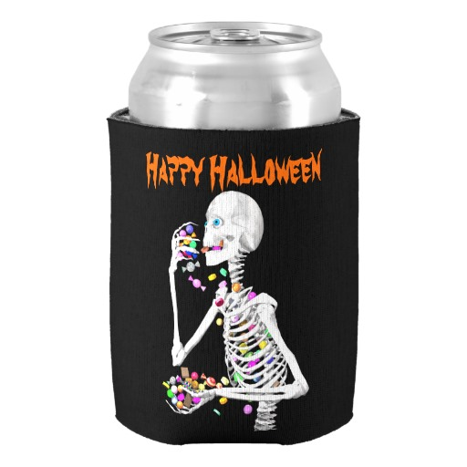 amazing skeleton eating halloween candy can cooler happy halloween beverage insulator for kids custom holders party supplies in wine coolers chillers from