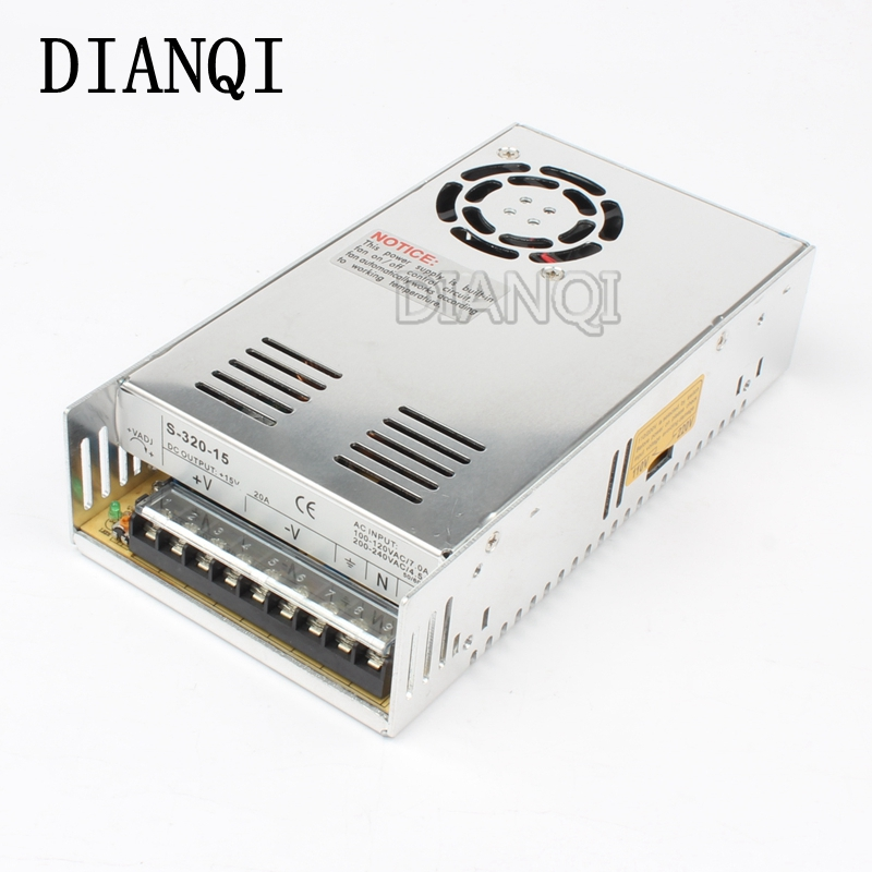 DIANQI power suply 12v 320w ac to dc power supply ac dc converter high quality 5V 12V 13.5V 15V 24V 36V 48V 27V led power suply 13 5v 201w ac to dc switching power supply ac dc converter high quality s 201 13 5v free shipping
