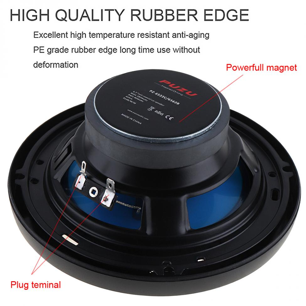 Image 4 - 2pcs 6.5Inch 180W 3 Way Auto Car Loudspeaker Coaxial Speakers Horn Audio Music Stereo Full Range Frequency Hifi Vehicle Speaker-in Coaxial speakers from Automobiles & Motorcycles