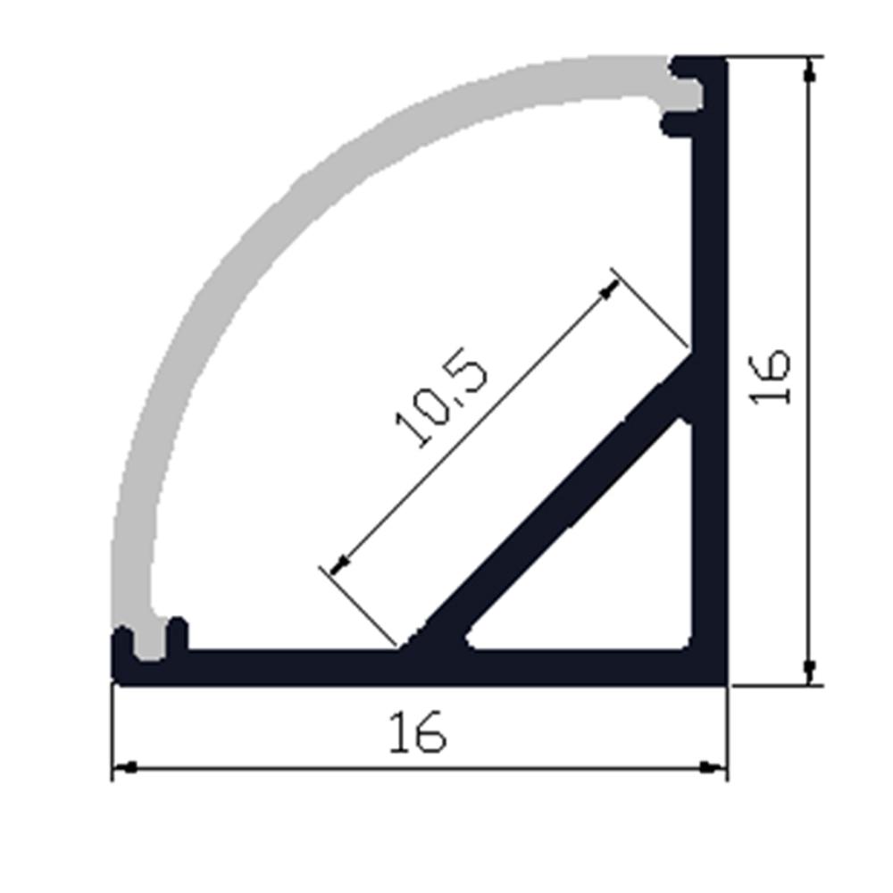 20м (20pcs) көп, бір бөлікке 1м, анодталған - LED Жарықтандыру - фото 2