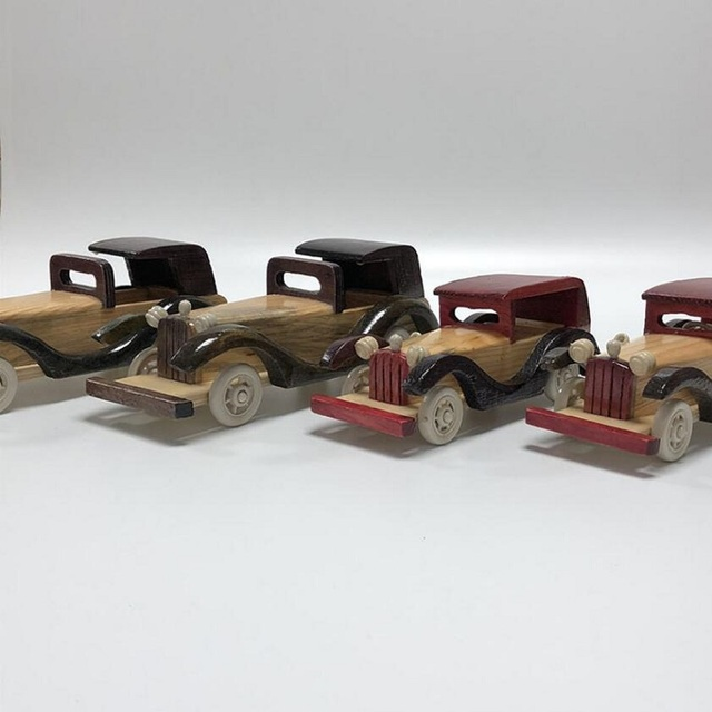 Kids Retro Wooden Car Toy
