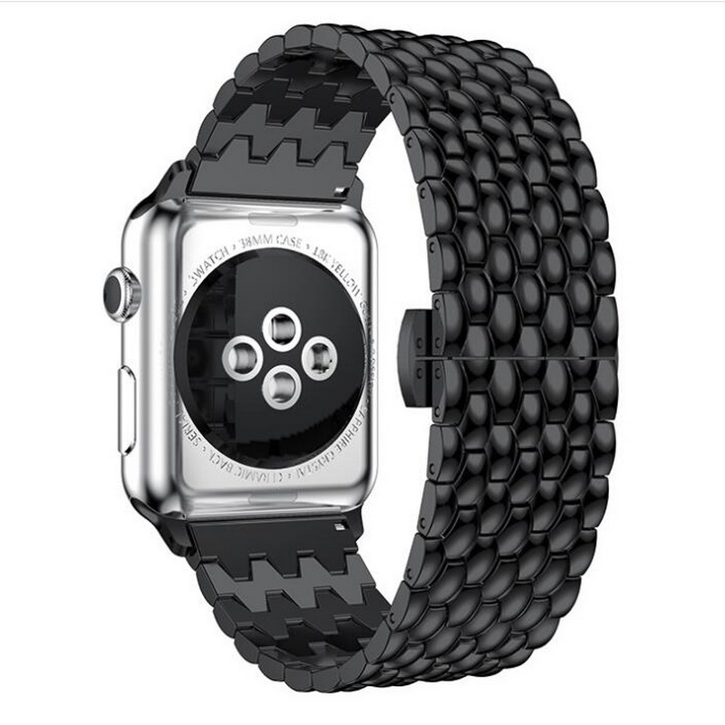 neway Metal Stainless Steel Solid Watch Band For Apple Watch Series 4 3 2 1 iWatch 40mm 44mm 38mm 42mm Strap Rose Gold Black
