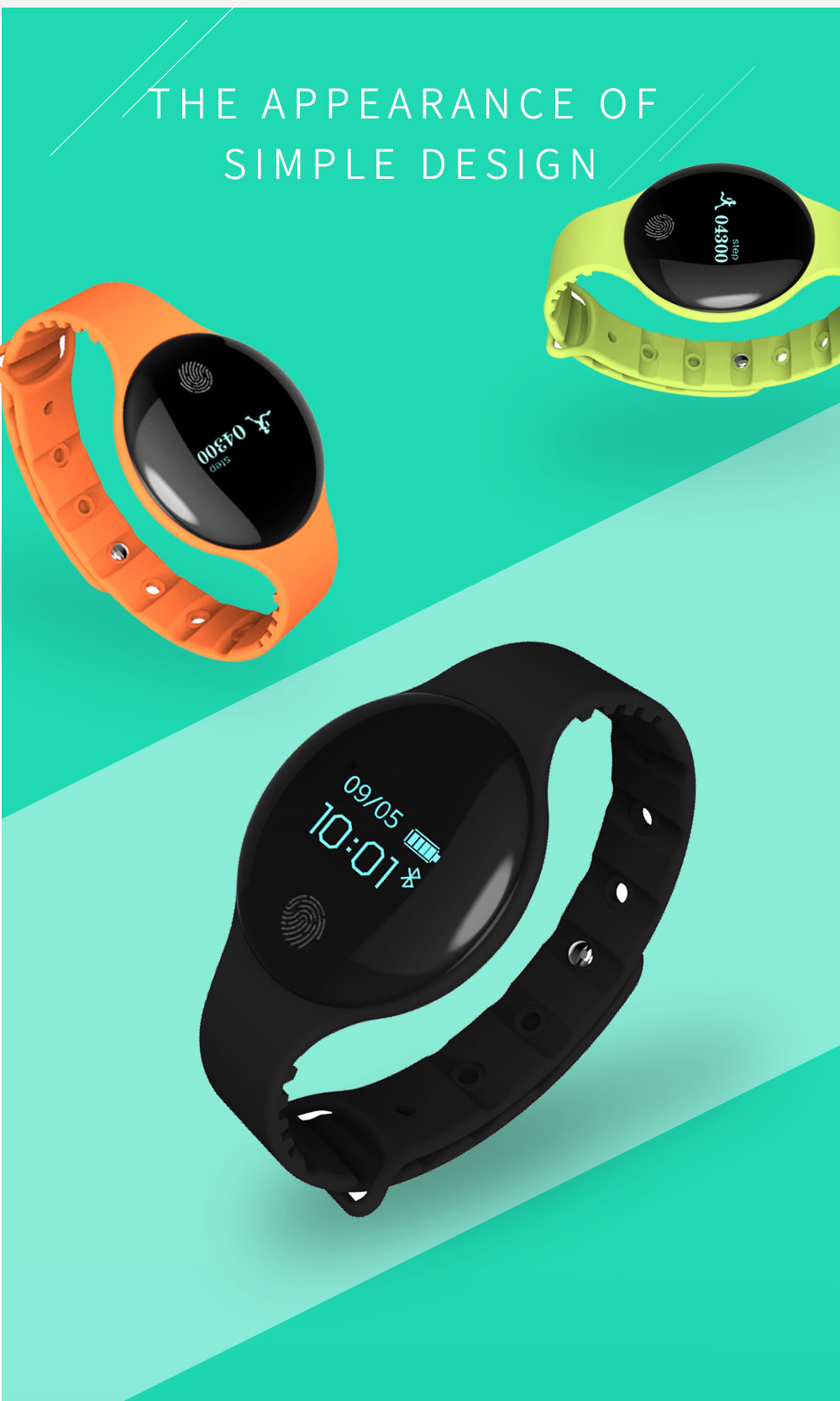Reloj inteligente podómetro Bluetooth 4