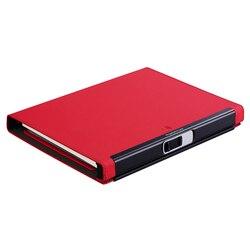 Blocco delle impronte digitali Multi funzione di gestione libro piano Notepad agenda business meeting notebook planner Gel Penna memo pad A5