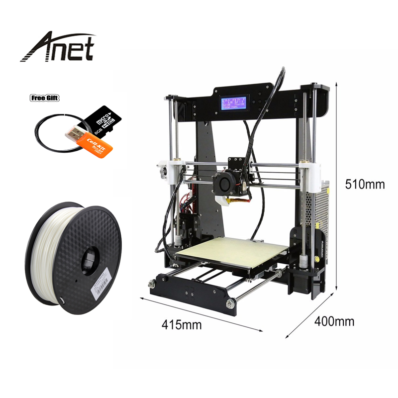 High Precision and Speed DIY 3d Printer Anet A8 Normal and Auto Leveling 3D Printer Kits