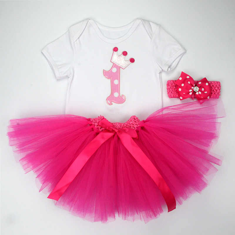 Christmas Baby Girl 3pcs Clothing Sets Infant Cotton Romper+Tulle Skirt+ Headband 3pcs Outfits f8b3b2988775