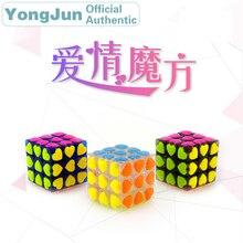 YongJun Love Symbol 3x3x3 Magic Cube YJ 3x3 Professional Neo Speed Puzzle Antistress Fidget Educational Toys For Children yongjun diamond symbol 3x3x3 magic cube yj 3x3 professional neo speed puzzle antistress fidget educational toys for children