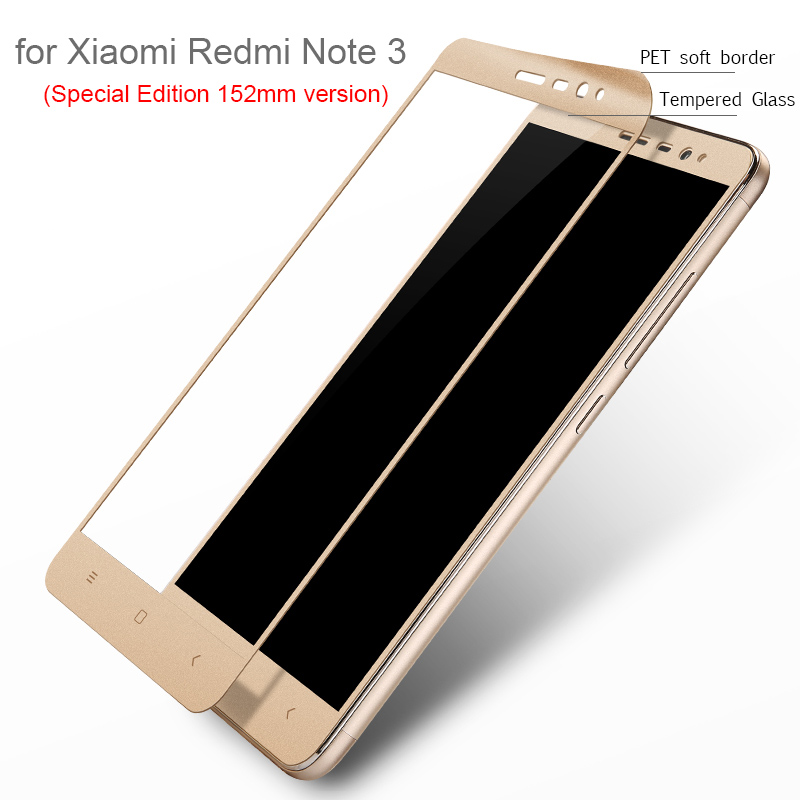 Lenuo Full Cover Tempered Glass Screen Protector for Xiaomi Redmi Note 3 Special Edition 152mm 9H
