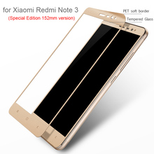 Lenuo Полное Покрытие Из Закаленного Протектор Экрана Стекло для Xiaomi Redmi Note 3 Special Edition 152 мм 9 H Жесткий Царапинам 3D стекла